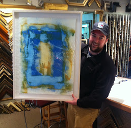 Dan with his new artwork!