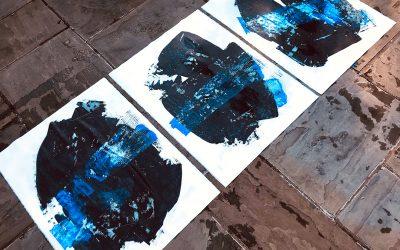 Bruised Residue Paintings